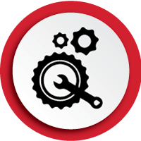 Live tool and rotary repair icon