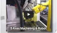 Chick Nikken Rotary Table on Fanuc Robodrill & Robot - 5-Axes Machining & Robot