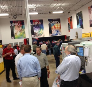 Attendees explore the many booths at Oktoberfest Tool Show