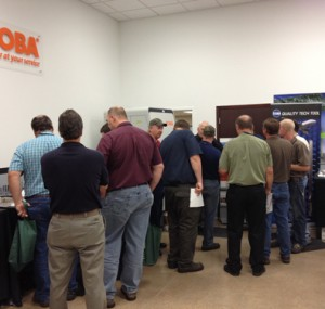 People exploring the booths at the Oktoberfest Tool Show