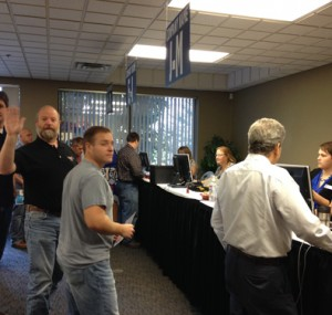 Attendees signing into the Oktoberfest Tool Show