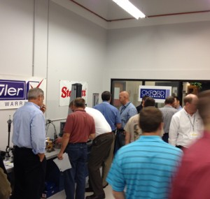 Booths at the Oktoberfest Tool Show