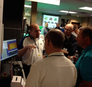 Man describing tooling practices at the Oktoberfest Tool Show