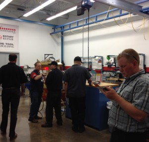 Demonstrations at the Oktoberfest Tool Show