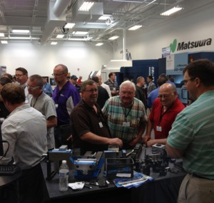 Attendees networking at the Oktoberfest Tool Show