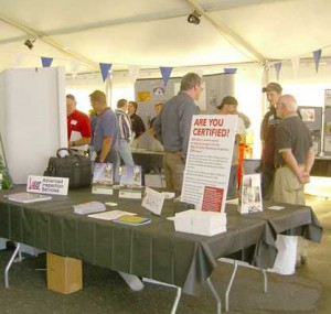 Certification booth at the Oktoberfest Tool Show