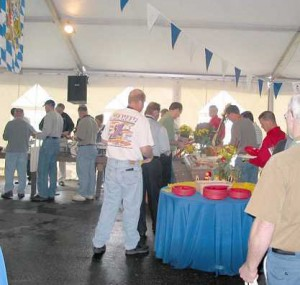 Lunch at the Oktoberfest Tool Show 2