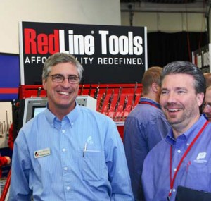 RedLine Tools team in front of booth