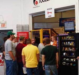 Group of men gathering at Oktoberfest Tool Show
