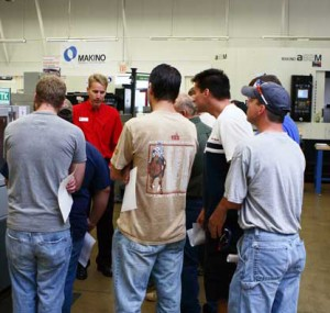 Makino booth at the Oktoberfest Tool Show