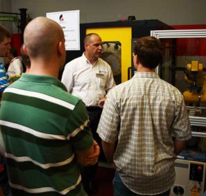 Automated machine demonstration at the Oktoberfest Tool Show