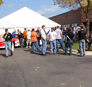 Outdoor tent at Oktoberfest Tool Show