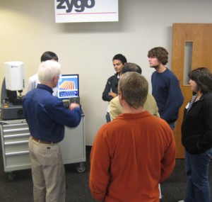 Demonstration of a machine tool at Oktoberfest Tool Show