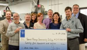 Producvity presenting Gene Haas Foundation check to Front Range Community College