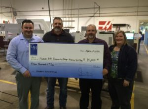 Productivity Gene Haas Foundation check presented to Indian Hills College