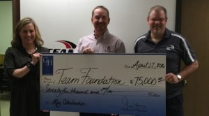 Productivity presents Gene Haas check to TEAM Foundation