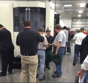 Attendees network at the Oktoberfest Tool Show