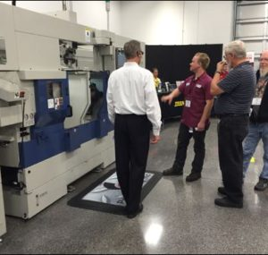Demonstration of a machine at Oktoberfest Tool Show