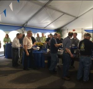 Oktoberfest Tool Show attendees getting lunch