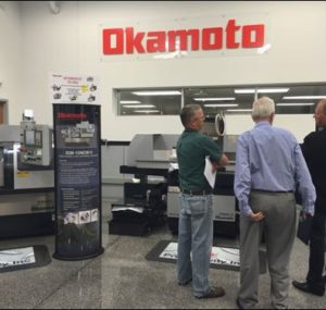 Okamoto machine tools at the Oktoberfest Tool Show