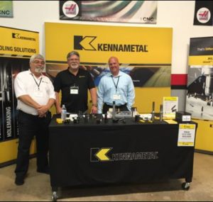 Kennametal team in front of Oktoberfest Tool Show booth