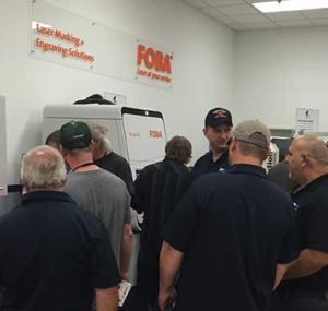 Automated machine demonstrations at the Oktoberfest Tool Show