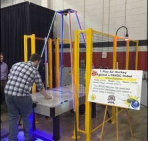 Air hockey machine at the Oktoberfest Tool Show