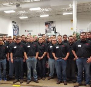 Large group picture of Oktoberfest Tool Show attendees