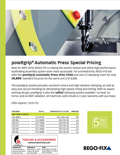 Rego-Fix powRgrip® Automatic Press Special Pricing