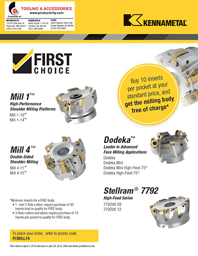 Kennametal Indexable Milling Promotion