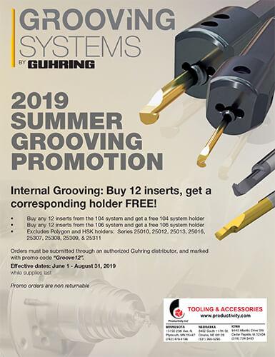 2019 Guhring Summer Grooving Promotion
