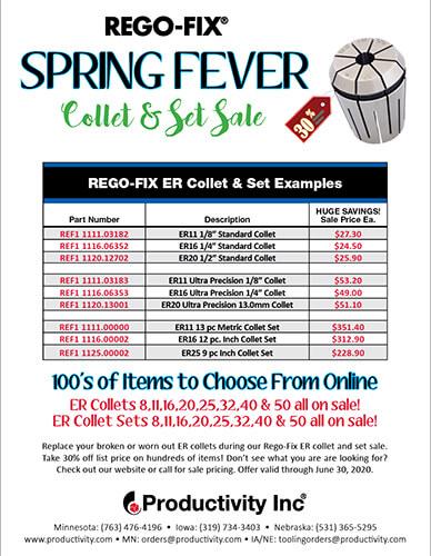 Rego-Fix Spring Fever Collet & Set Sale