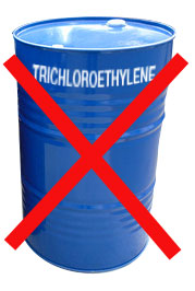 Green Parts Solvent Cleaning- trichloroethylene chemical banned