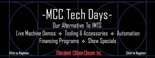 Cincom Miyano Tech Days Email Header